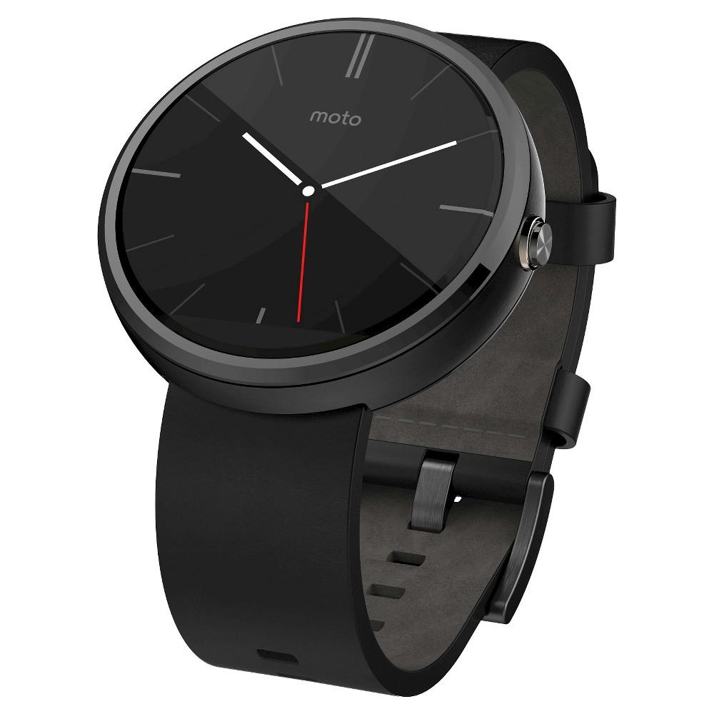 Motorola Moto 360 Smartwatch Leather - Black