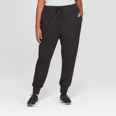 8f9f2249cbd3e Women s Plus Size Jogger Ankle Pants - Ava   Viv™ Black   Target