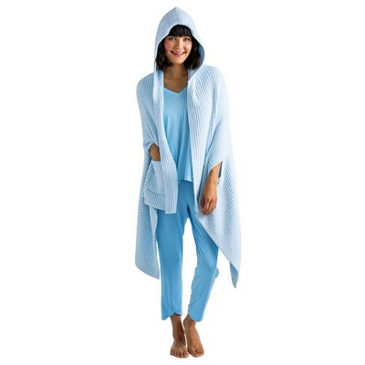 Softies Women's Marshmallow Hooded Shawl with Armslots