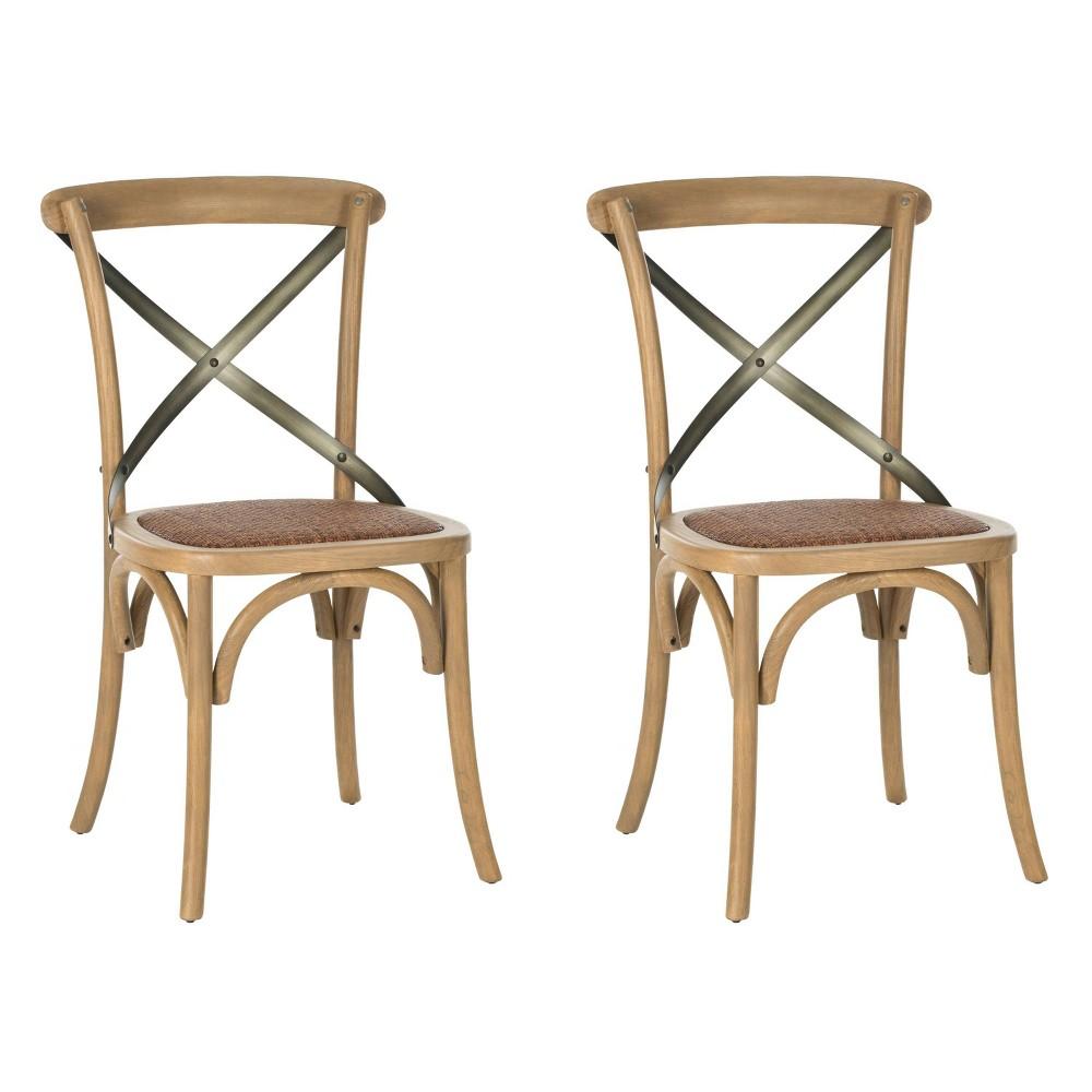Phara Dining Chair - Light Brown (Set of 2) - Safavieh