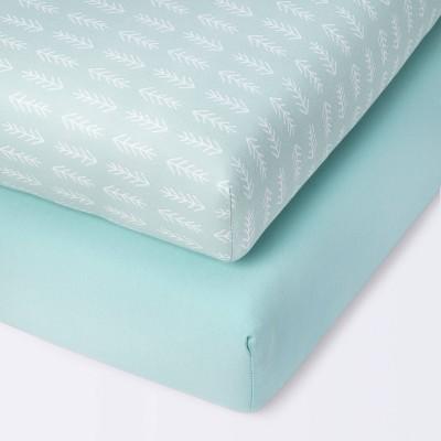 Fitted Mini Crib Jersey Sheet Cloud Island™ Arrows/Mint - 2pk
