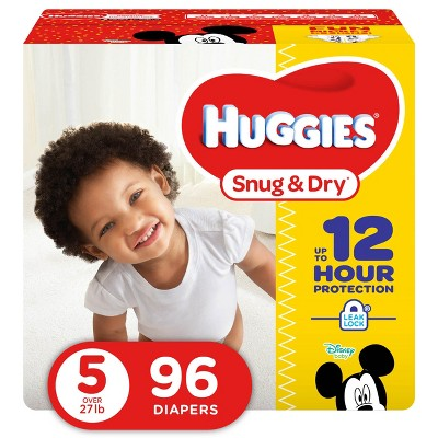 Huggies Snug & Dry Diapers Super Pack - Size 5 (96ct)