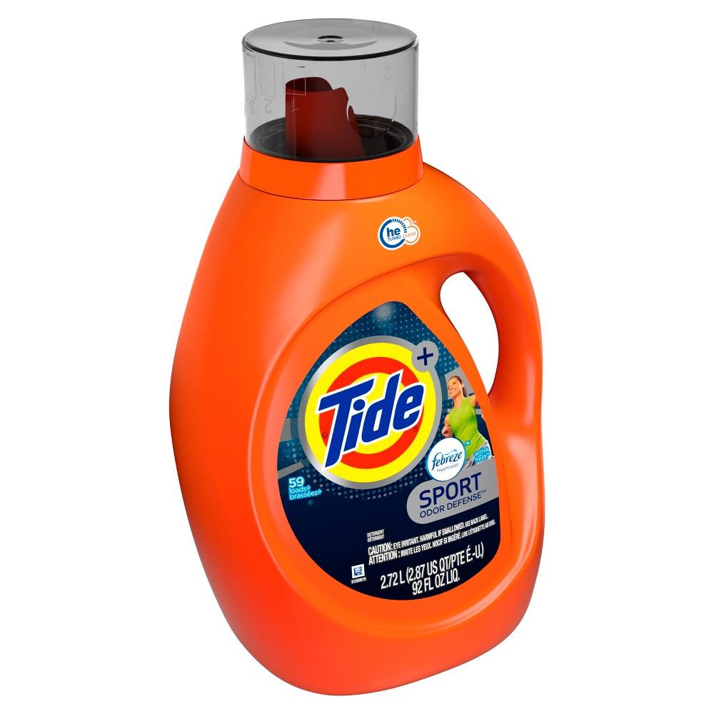 Tide Plus Febreze Sport Active Fresh High Efficiency Liquid Laundry Detergent - 92 fl oz