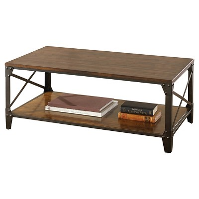 Winston Cocktail Table Rustic Cherry - Steve Silver