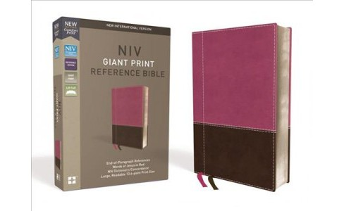 Holy Bible : New International Version, Pink / Brown, Leathersoft, Giant Print Reference - LGR  - image 1 of 1