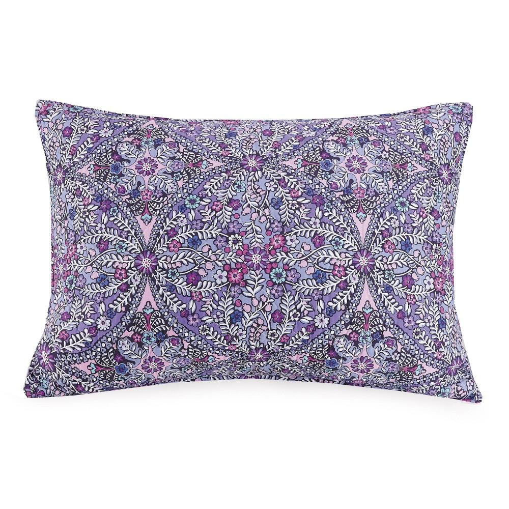 Image of Standard Kaleidoscope Pillow Sham Purple - Vera Bradley