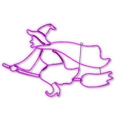 "36"" LED Purple Witch Novelty Halloween Light"