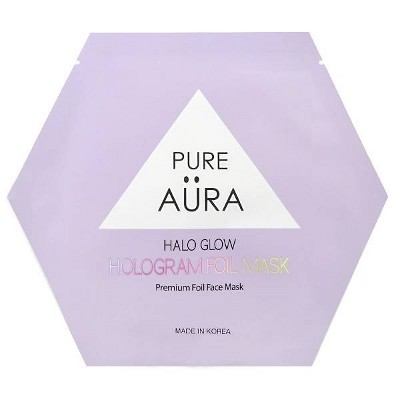 Pure Aura Halo Glow Hologram Foil Mask - 0.88 fl oz