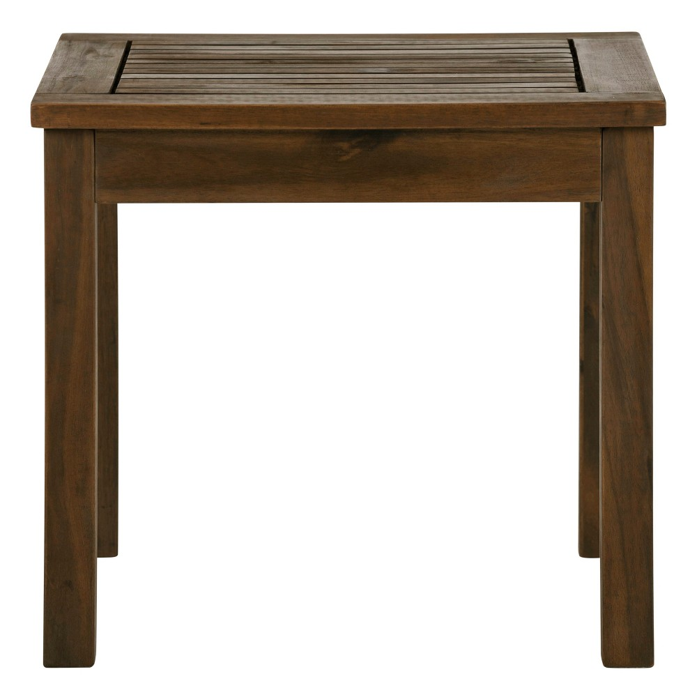 "Image of ""20"""" Wood Patio Simple Side Table Espresso Brown - Saracina Home, Brown Brown"""