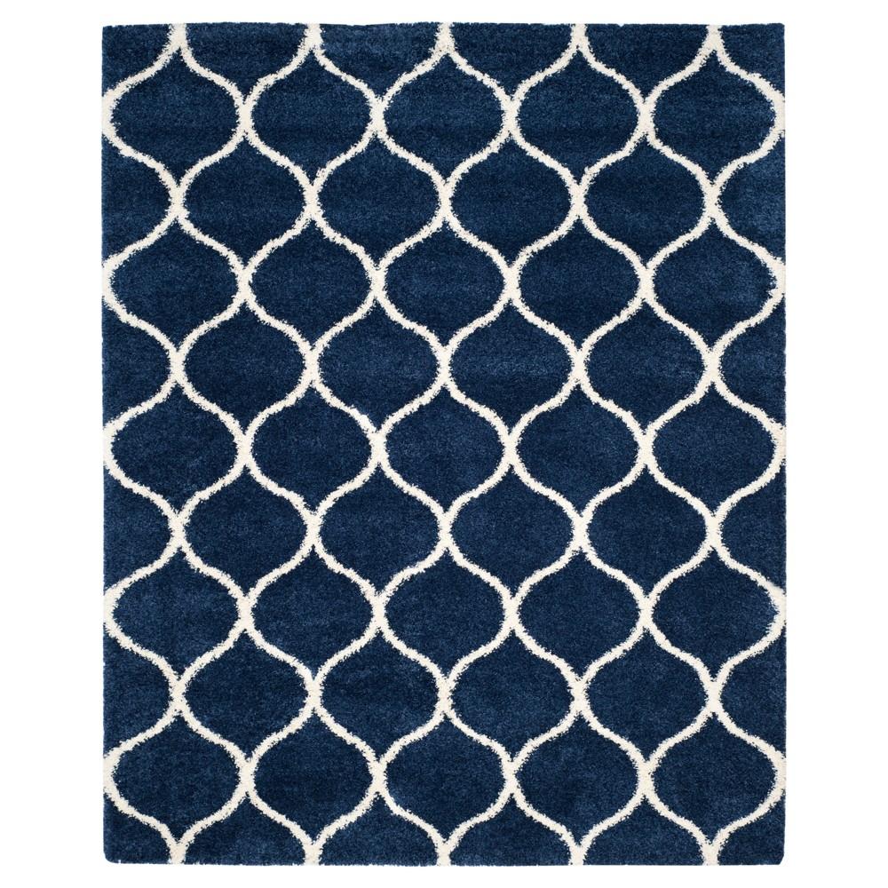 Hudson Shag Rug - Navy/Ivory (Blue/Ivory) - (9'X12') - Safavieh