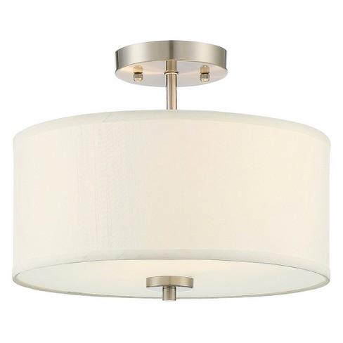 Brushed Nickel Semi Flush Mount Ceiling Lights Filament Design