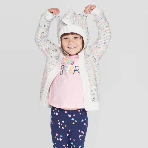 Toddler Girls' Rainbow Unicorn Cardigan - Cat & Jack™ - image 1 of 3