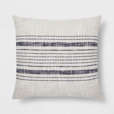 Stripe Throw Pillow - Gray/Blue - Threshold™