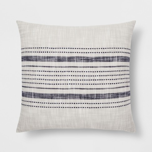 stripe throw pillow gray blue threshold target. Black Bedroom Furniture Sets. Home Design Ideas