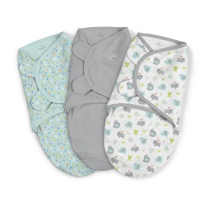 SwaddleMe Original Swaddle Wrap 0-3 M - Jungle Drops S/M 3pk