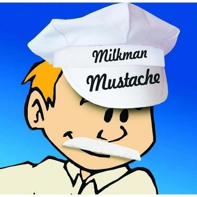 HMS Self Adhesive Milkman Costume Mustache White