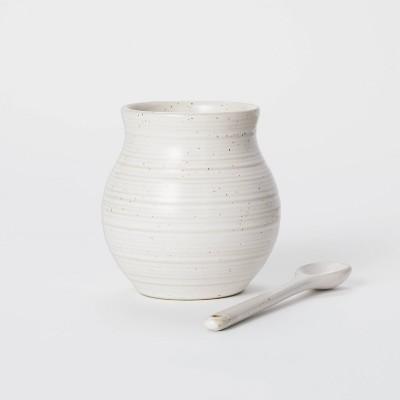16.9oz Stoneware Jar with Spoon - Threshold™ designed with Studio McGee