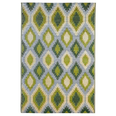 Evergreen Flag ReversibleWeather-resistant Rug 4'x6' Green and Yellow