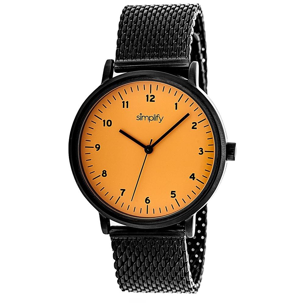 Simplify The 3200 Men's Stainless Steel Bracelet Watch - Orange