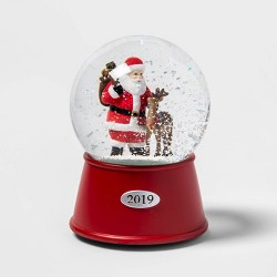 "5.5"" x 3.8"" Santa Claus and Reindeer Musical Snow Globe - Wondershop™"