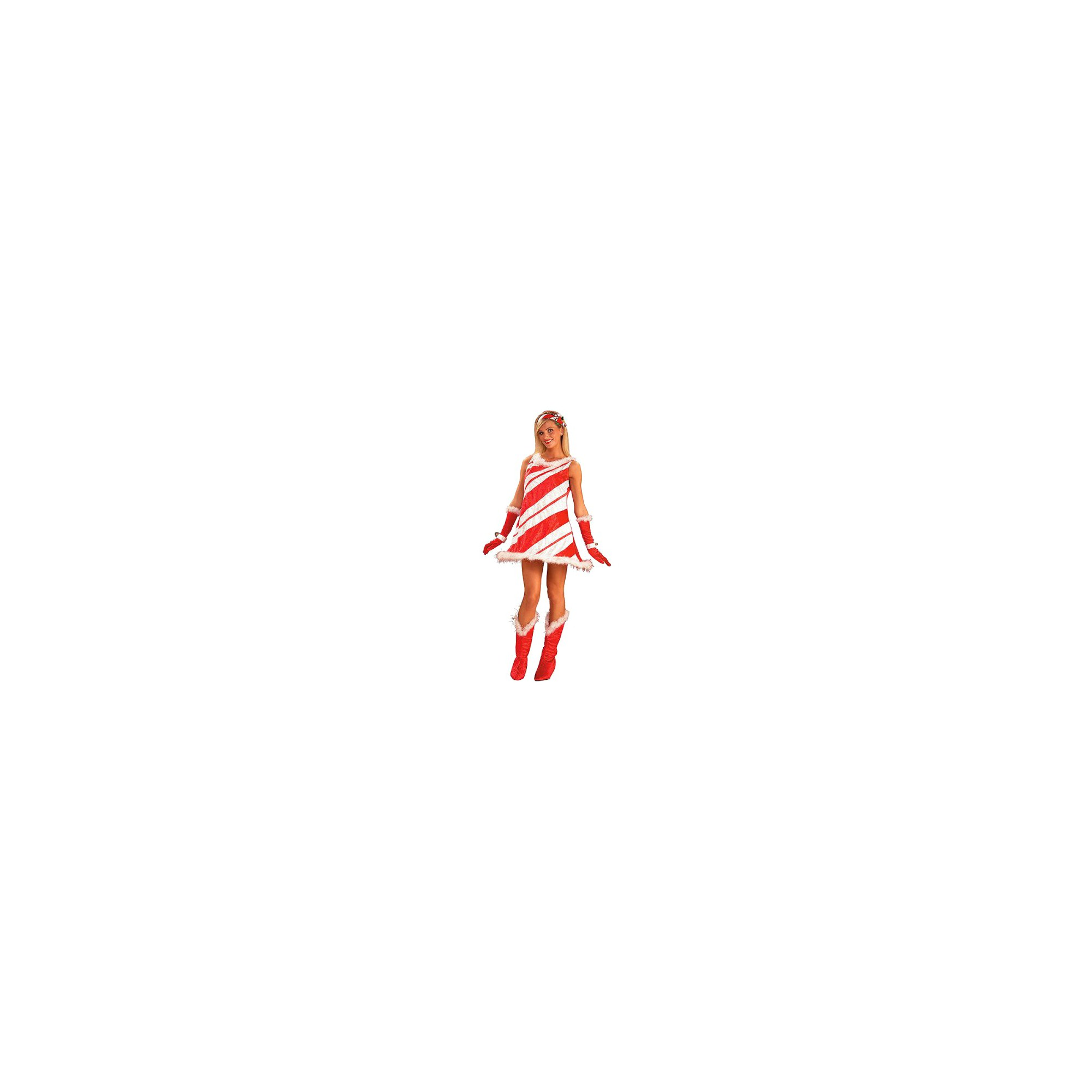 Halloween Women's Miss Candy Cane Costume One Size, Red
