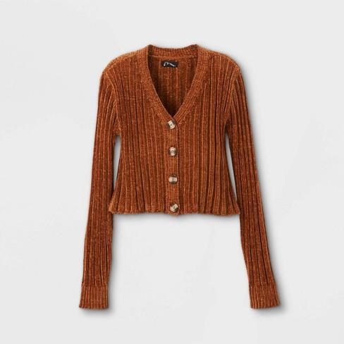 Girls' Chenille Cropped Cardigan - art class™ - image 1 of 2