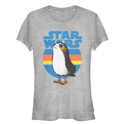 Junior's Star Wars The Last Jedi Retro Porg T-Shirt