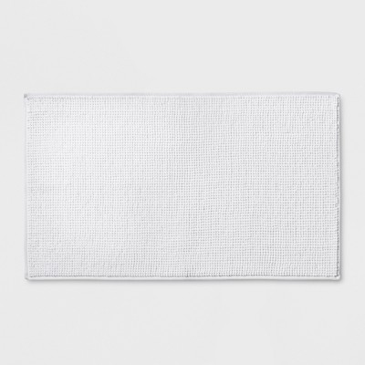 34 x20  Solid Bath Rug White - Made By Design™