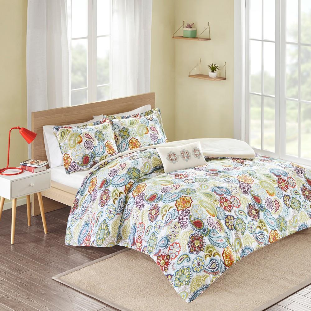 Tula 4 Piece Comforter Set - Multicolor (King), Multi-Colored
