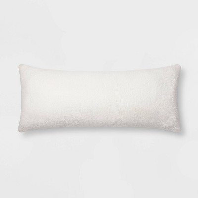 Sherpa Faux Fur Body Pillow Cream - Threshold™