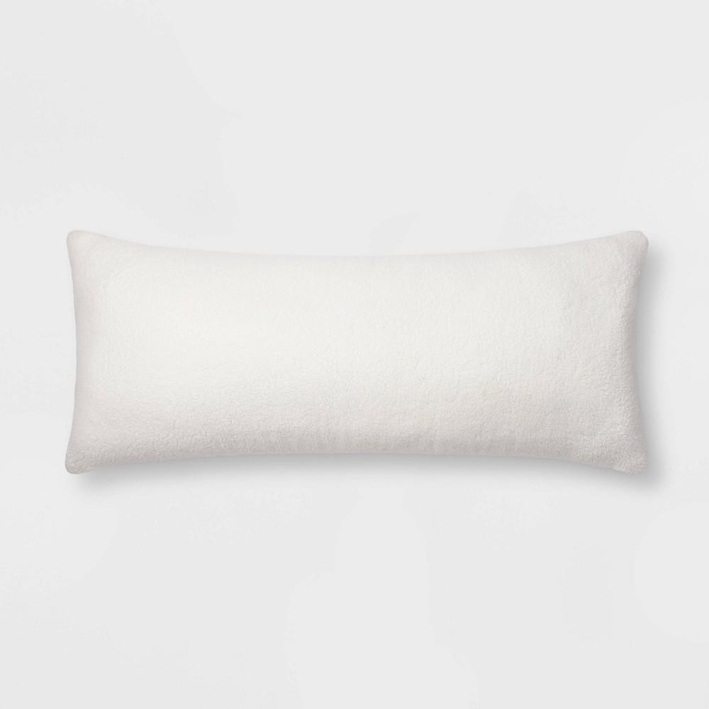 Sherpa Faux Fur Body Pillow Cream Threshold 8482