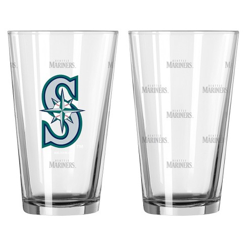 Boelter Brands MLB Seattle Mariners Set of 2 Pint Glass - 16oz - image 1 of 1