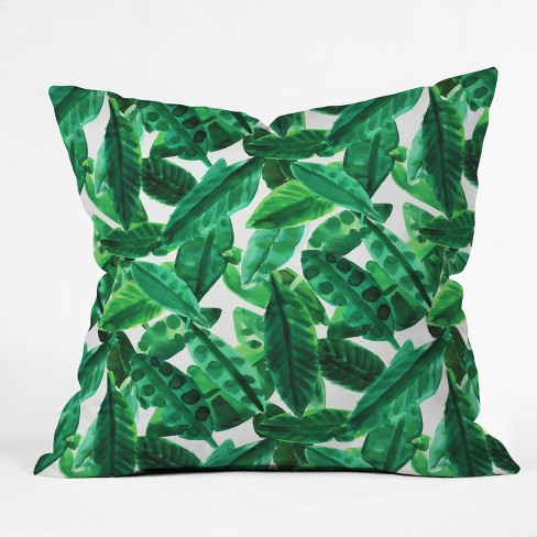Amy Sia Palm Throw Pillow Green - Deny Designs - image 1 of 2