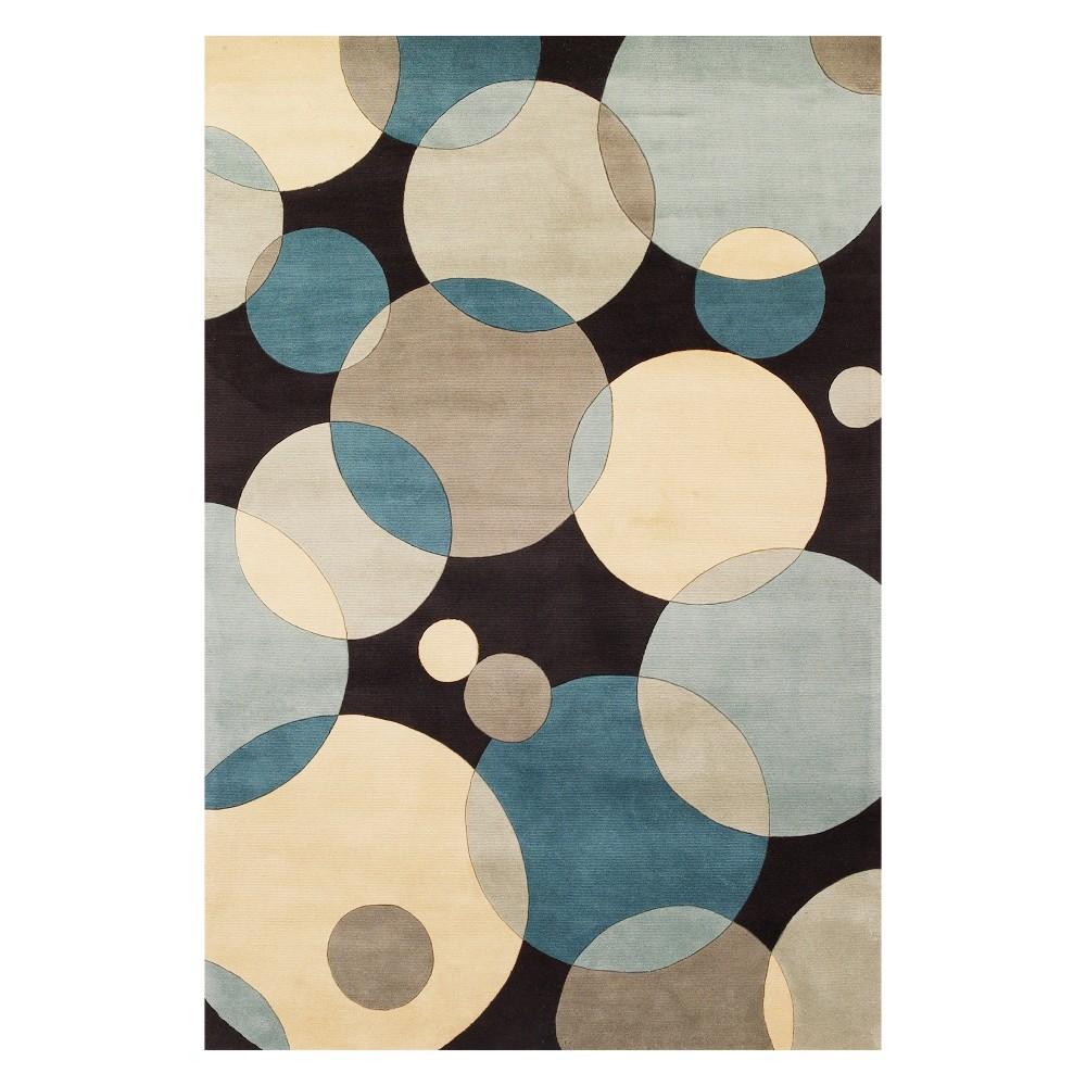 8'X11' Geometric Tufted Area Rug Teal (Blue) - Momeni