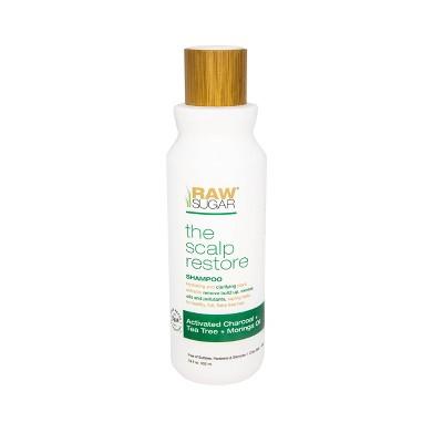 Raw Sugar Shampoo Scalp Restore Activated Charcoal + Tea Tree + Moringa Oil - 18 fl oz