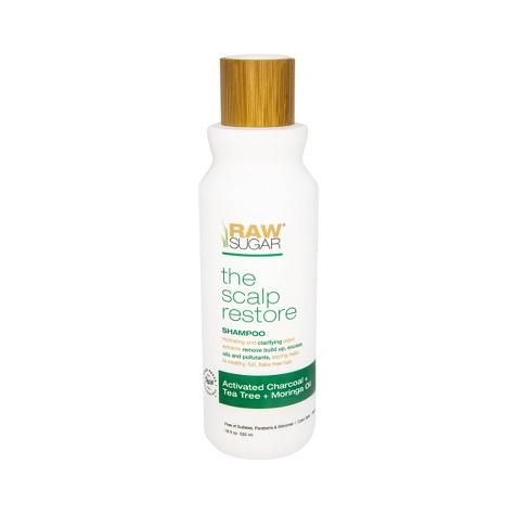 Raw Sugar Scalp Renew Shampoo Activated Charcoal + Tea Tree + Moringa Oil - 18 fl oz - image 1 of 4