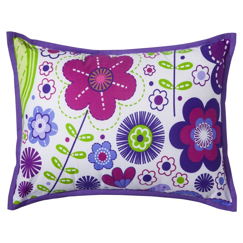 Image of Bacati Throw Pillow - Botanical Purple