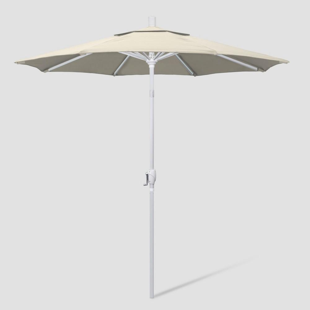 Image of 7.5' Aluminum Push Tilt Patio Umbrella Antique Beige - California Umbrella