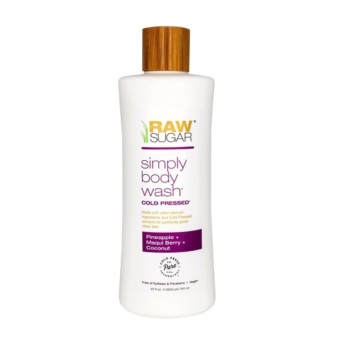 Raw Sugar Simply Body Wash Pineapple + Maqui Berry + Coconut - 25 fl oz - image 1 of 3