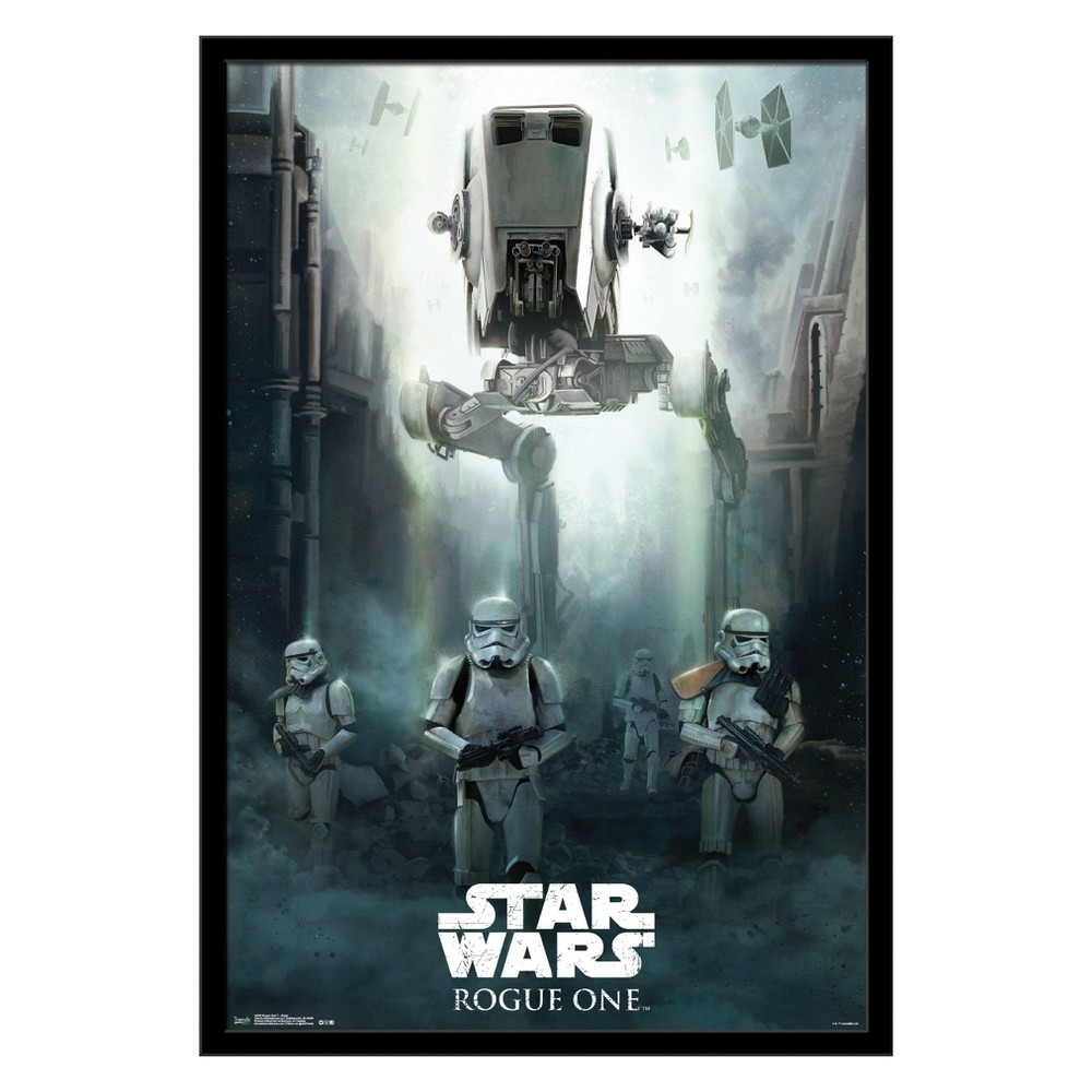 Image of Star Wars Rogue One: A Star Wars Story - Siege Framed Poster Trends International, Multi-Colored