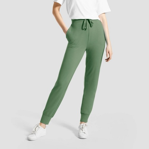 Hue Studio Women S Super Soft Joggers With Pockets Olive S G