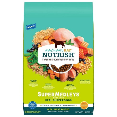 Rachael Ray Nutrish Super Medleys Wellness Blend Superfoods & Chicken Recipe Adult Super Premium Dry Dog Food - image 1 of 4