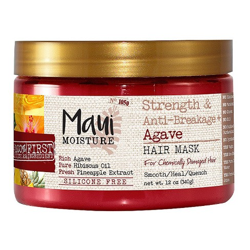 Maui Moisture Strength & Anti-breakage + Agave Hair Mask for Chemically Damaged Hair - 12oz - image 1 of 3