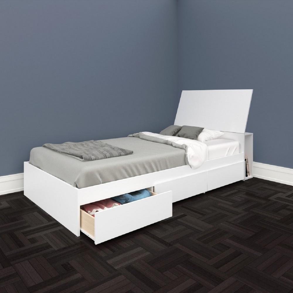 Image of Monterey Kids Storage Bed and Headboard Twin White - Nexera