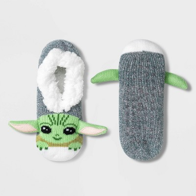 Women's Star Wars The Mandalorian The Child Pull-On Slipper Socks - Green - 4-10