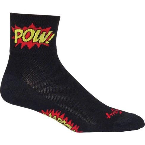 SockGuy SGX Black Sock Black LG//XL