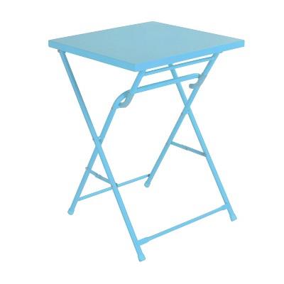 "20"" Square Metal Patio Folding Table - Aqua - Room Essentials™"