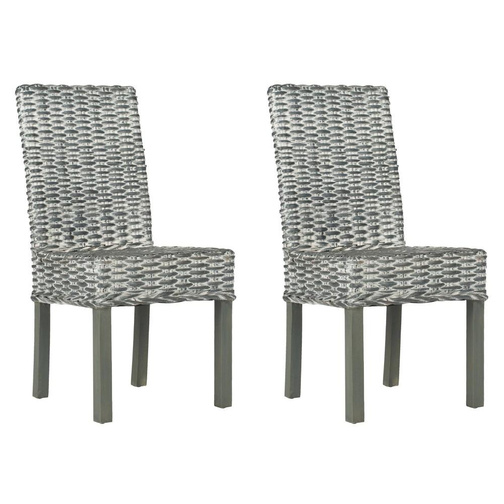 Dining Chair Wood/Gray - Safavieh
