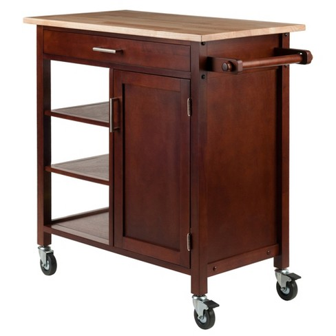 Marissa Kitchen Cart Walnut - Winsome - image 1 of 11