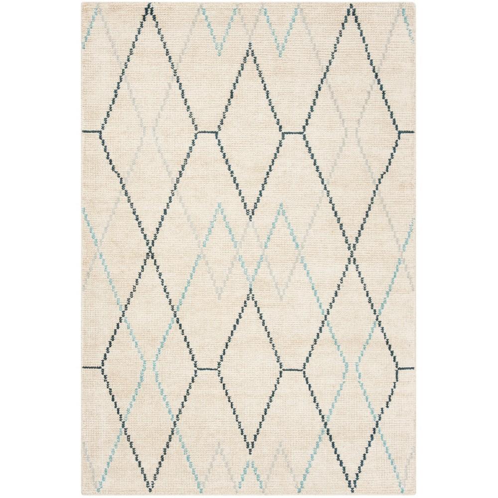 4 X6 Knotted Geometric Area Rug Ivory Safavieh